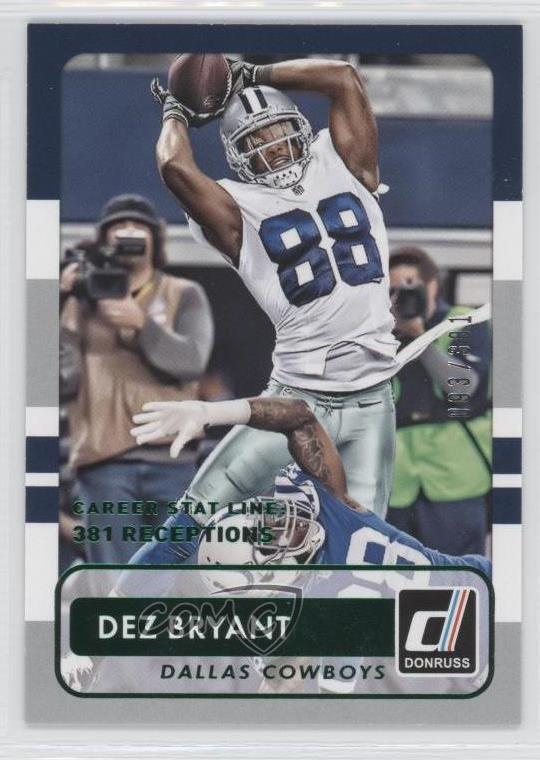 Details About 2015 Panini Donruss Stat Line Career 381 76 Dez Bryant Dallas Cowboys Card