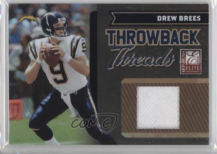 1ca8ea4a8 2010 Donruss Elite - Throwback Threads #19 Drew Brees. Representative Image  - Select Specific Item above to see image of actual item