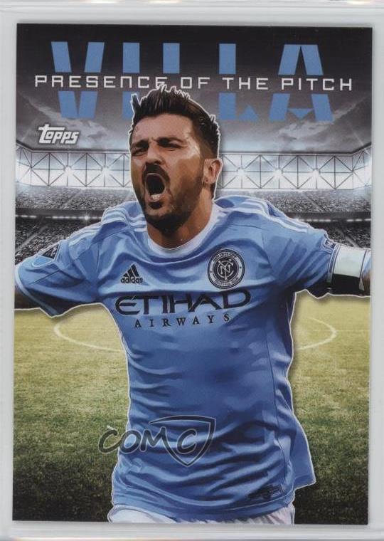 DAVID VILLA 2016 TOPPS MLS PRESENCE OF THE PITCH INSERT #PP-DV NEW YORK CITY FC