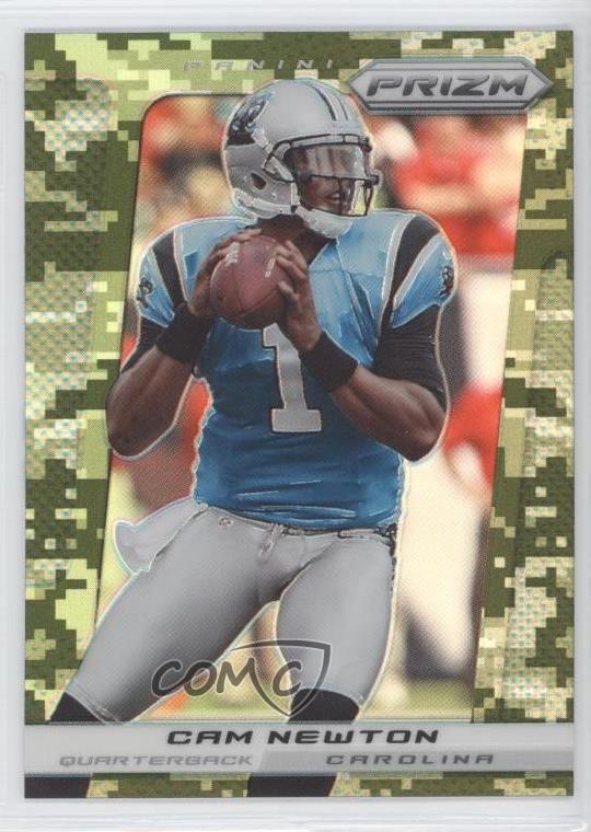 newest 3def9 8655e Details about 2013 Panini Prizm Target Camo Prizms #133 Cam Newton Carolina  Panthers Card