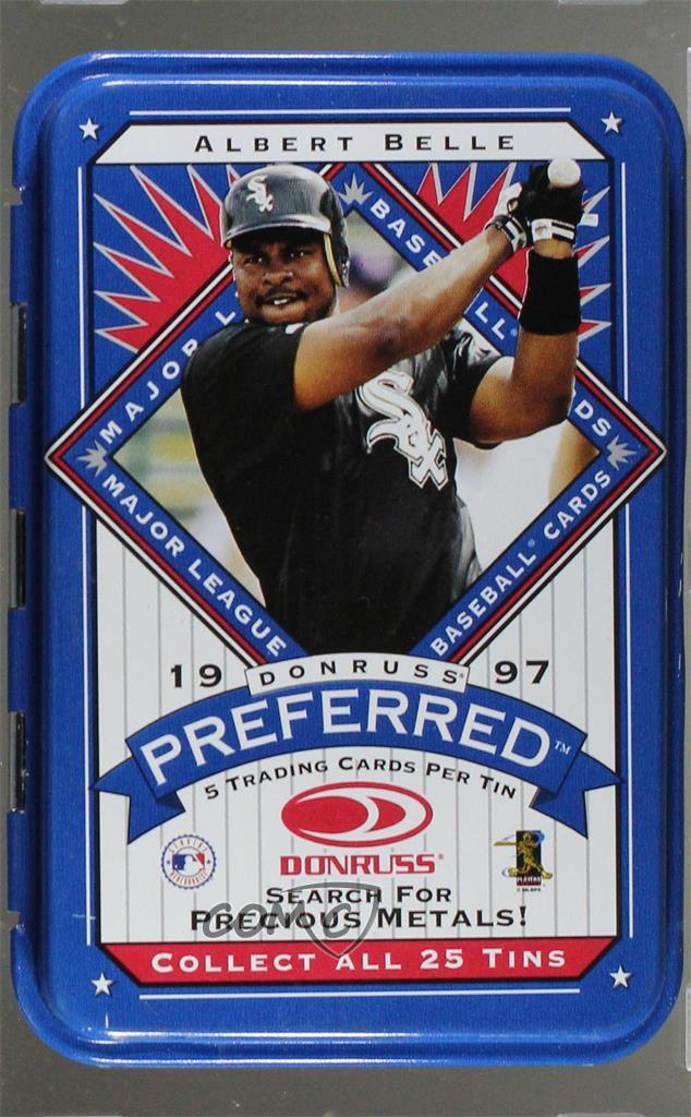 Details About 1997 Donruss Preferred Tin Packs Albe Albert Belle Chicago White Sox Card