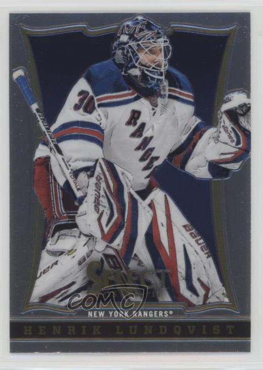 2013 14 Select 56 Henrik Lundqvist New York Rangers Hockey Card Ebay