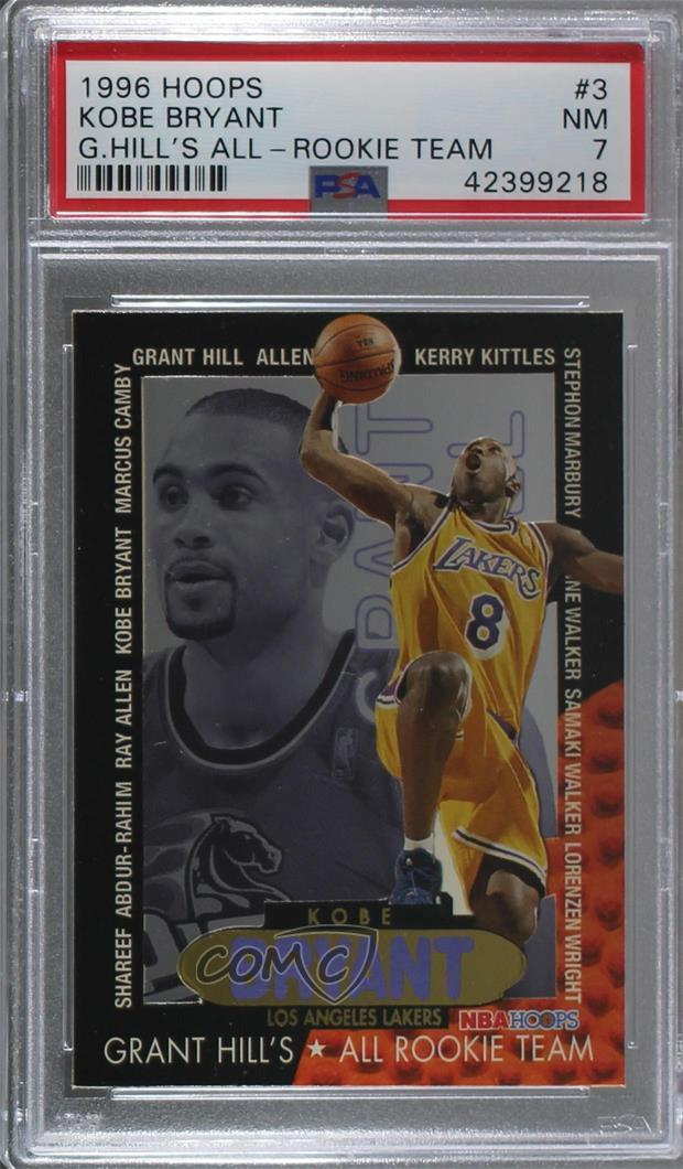 Details About 1996 97 Nba Hoops Grant Hills All Rookie Team 3 Kobe Bryant Psa 7 Nm Card
