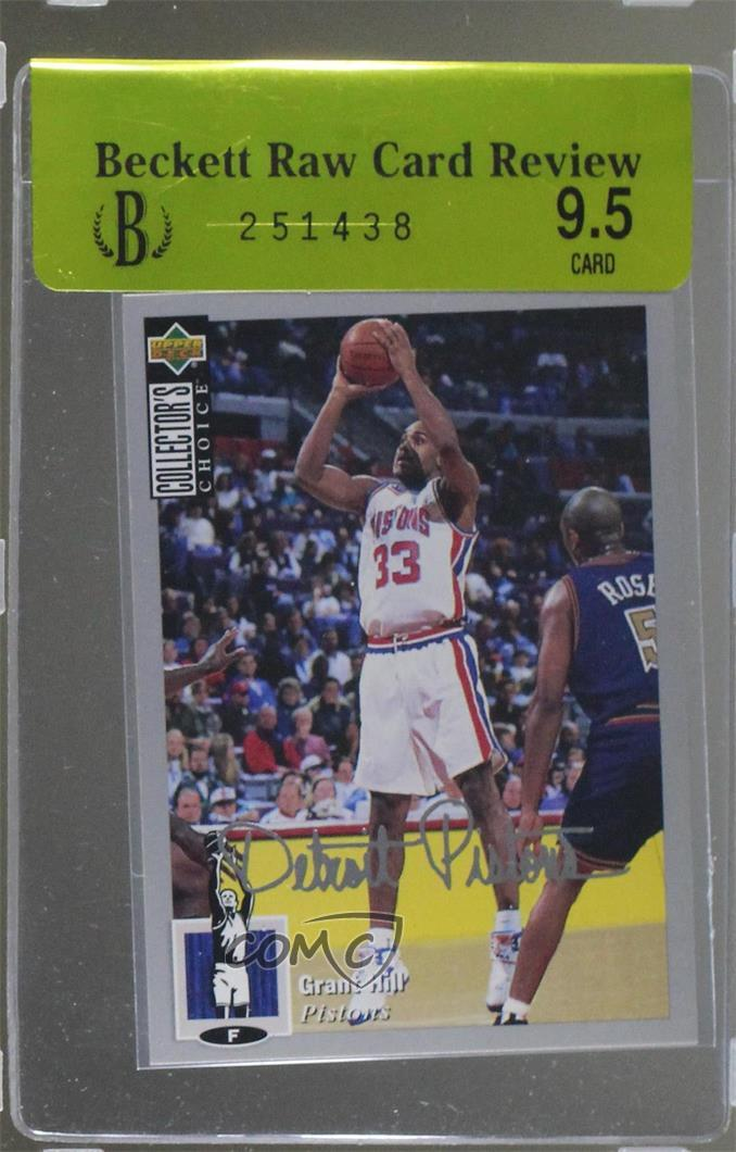 Details About 1994 Upper Deck Collectors Choice Silver Signature 219 Grant Hill Rookie Card