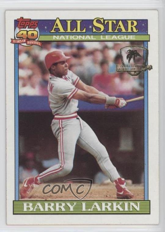 Details About 1991 Topps Operation Desert Shield 400 Barry Larkin Cincinnati Reds Card