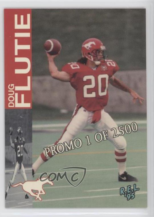 sports shoes 91021 bd724 Details about 1995 REL CFL Promos/2500 #P Doug Flutie Calgary Stampeders  (CFL) Football Card