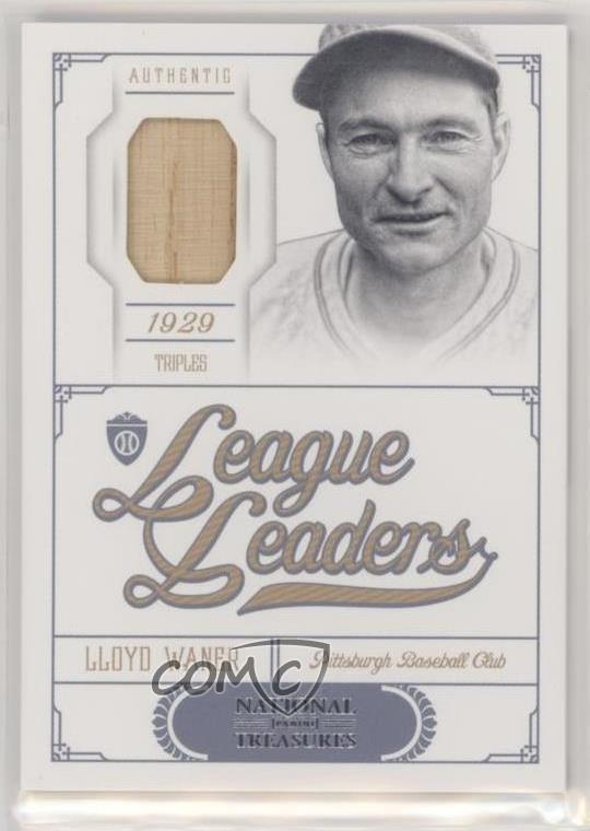 Details About 2012 Panini National Treasures League Leaders99 12 Lloyd Waner Baseball Card