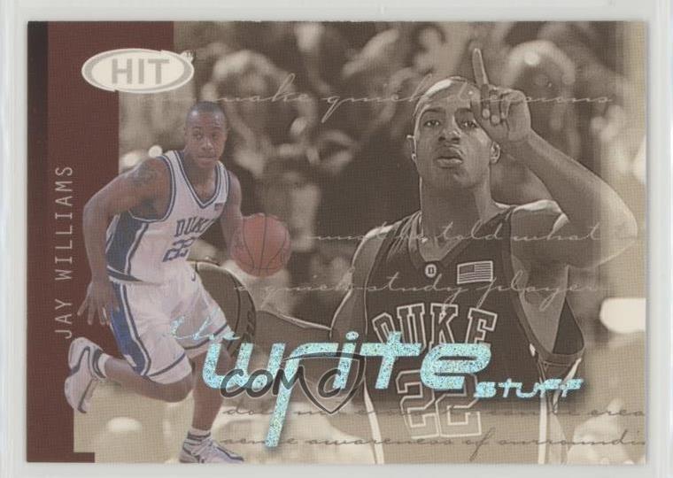 2002 SAGE Hit Write Stuff 1 Jay Williams Duke Blue Devils Rookie