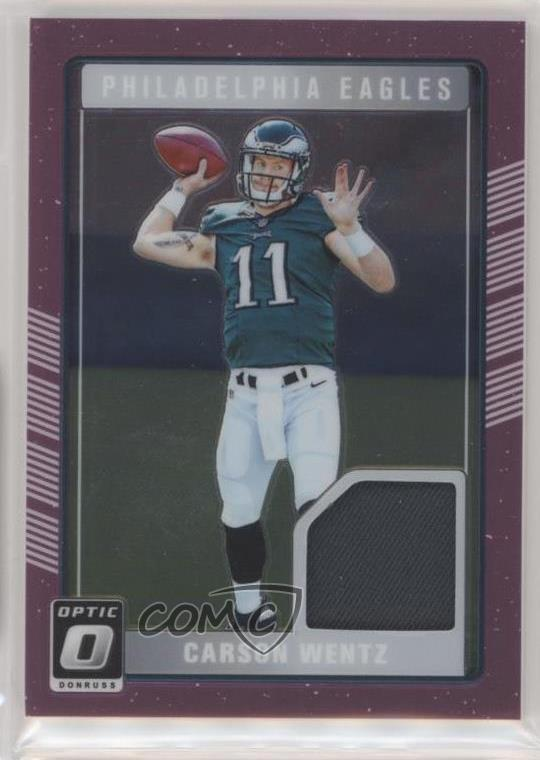buy online ccc1a 3d7e8 Details about 2016 Donruss Optic Rookie Threads Pink #DRT-CW Carson Wentz  Philadelphia Eagles