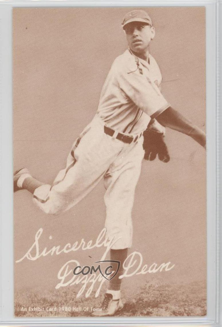 Details About 1980 An Exhibit Card Hall Of Fame Reprints Tan Stock Sepia Dizzy Dean Baseball