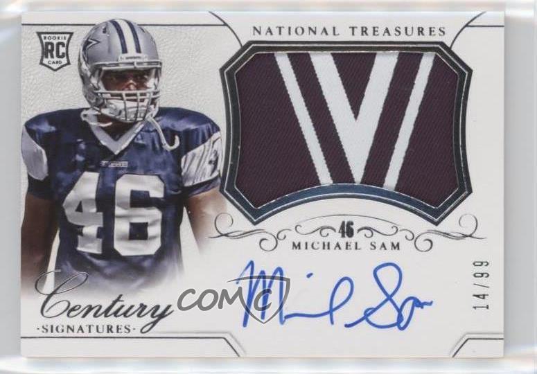 huge discount 4fc10 70209 Details about 2014 Panini National Treasures/99 #277 Michael Sam Dallas  Cowboys Auto RC Rookie