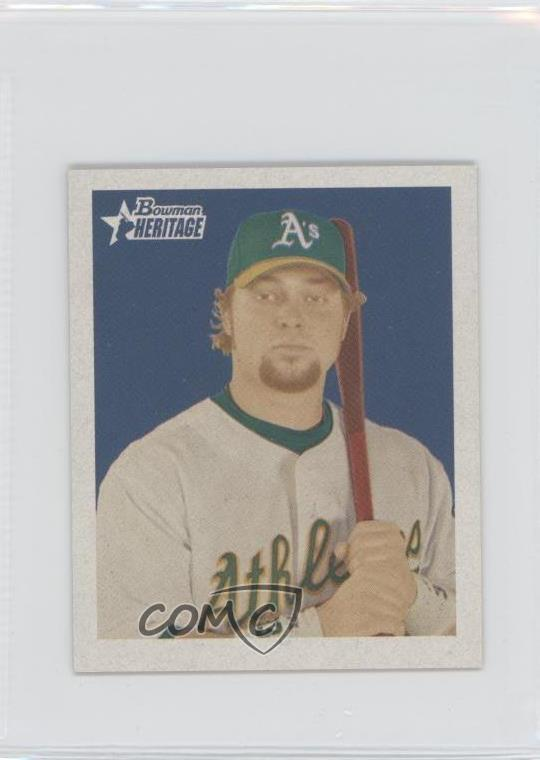 Details About 2006 Bowman Heritage Mini 185 Nick Swisher Oakland Athletics Baseball Card