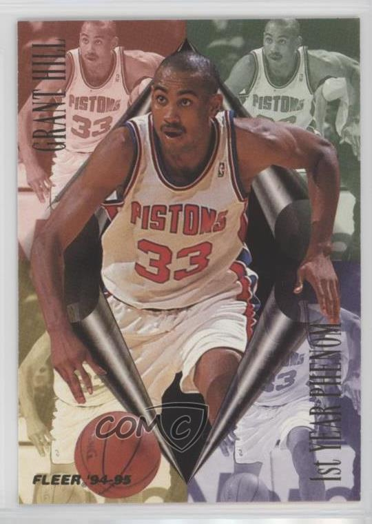 Details About 1994 95 Fleer 1st Year Phenom 1 Grant Hill Detroit Pistons Rookie Card