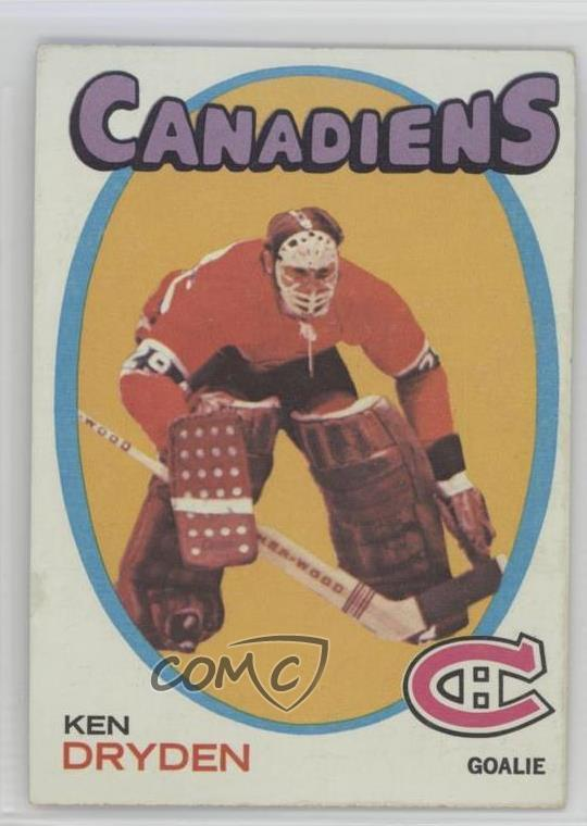 Details About 1971 72 Topps 45 Ken Dryden Montreal Canadiens Rc Rookie Hockey Card
