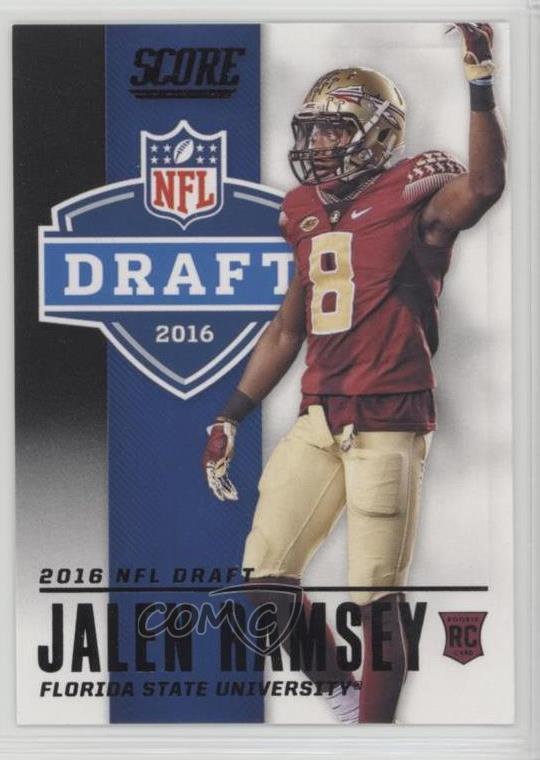 super popular b121d 0a2b3 Details about 2016 Score NFL Draft Black #10 Jalen Ramsey Florida State  Seminoles Rookie Card