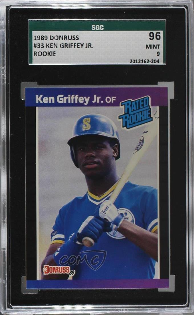 Details About 1989 Donruss 33 Ken Griffey Jr Sgc 9 Mint Seattle Mariners Jr Rc Baseball Card