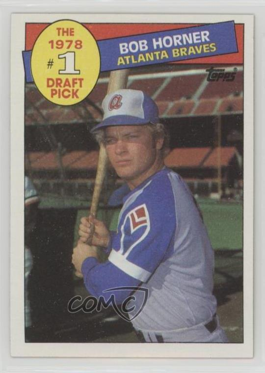Details About 1985 Topps 276 Bob Horner Atlanta Braves Baseball Card