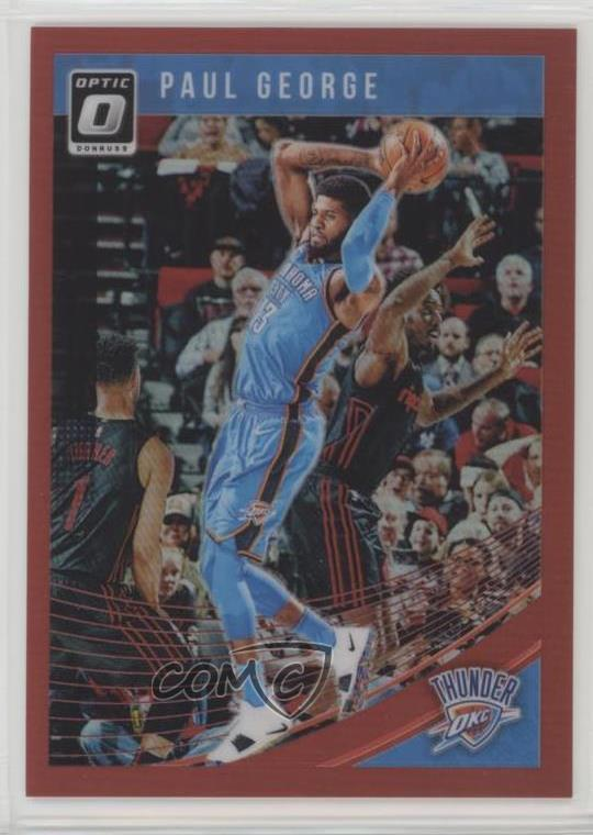 0596efc684c8a Details about 2018-19 Panini Donruss Optic Red/99 #117 Paul George Oklahoma  City Thunder Card