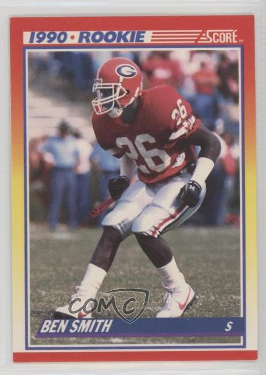 Details About 1990 Score 310 Ben Smith Georgia Bulldogs Rc Rookie Football Card