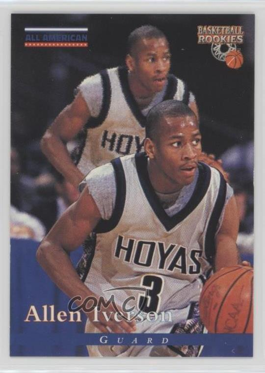 Details About 1996 97 Score Board Basketball Rookies 81 Allen Iverson Georgetown Hoyas Rookie