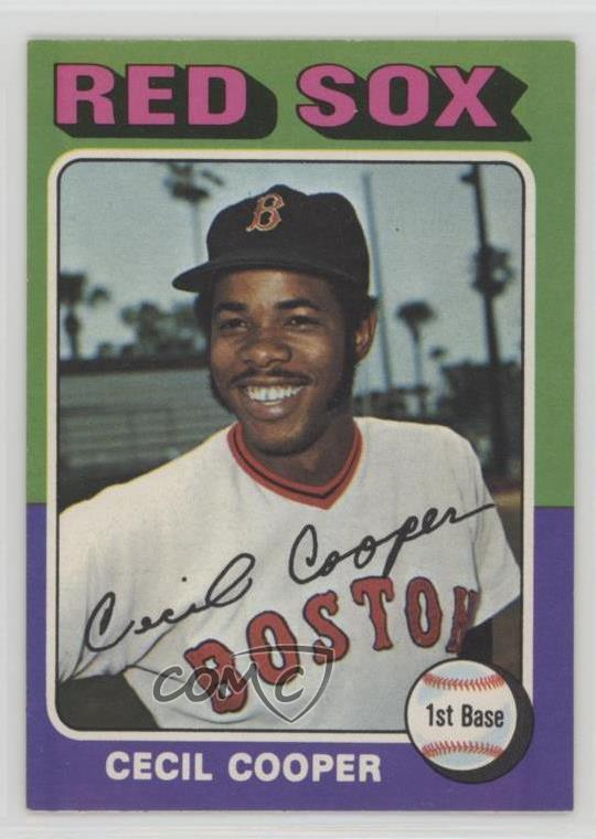 glatt 100% Qualität Neues Produkt Details about 1975 O-Pee-Chee #489 Cecil Cooper Boston Red Sox Baseball Card