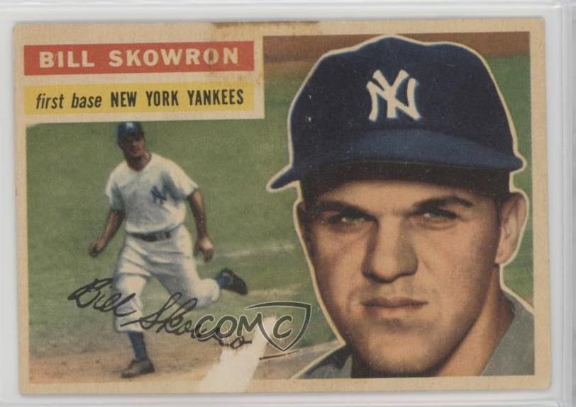 Details About 1956 Topps 612 Moose Skowron White Back New York Yankees Baseball Card