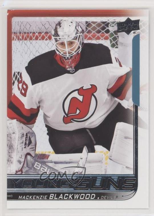 more photos ae75b ad1f8 Details about 2018 Upper Deck #210 Mackenzie Blackwood Young Guns New  Jersey Devils RC Rookie