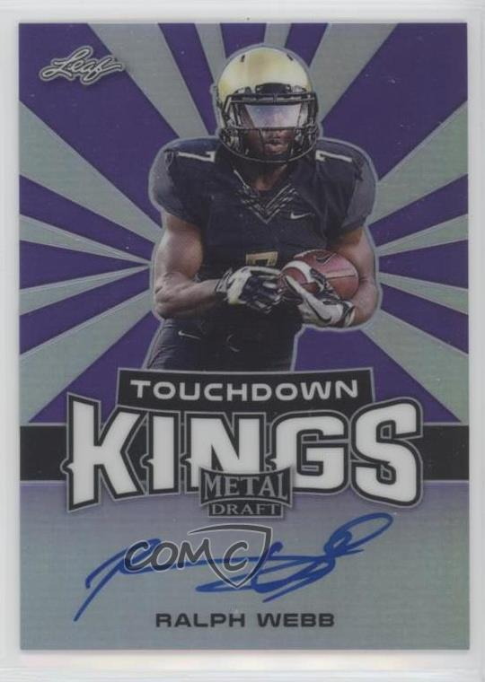 new style da2de f3e69 Details about 2018 Leaf Metal Draft Touchdown Kings Purple/15 #TK-RW1 Ralph  Webb Auto Rookie