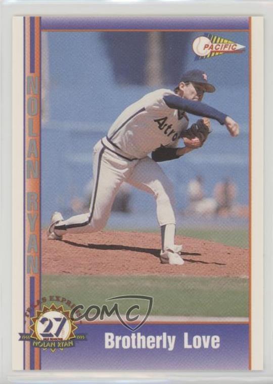 Details About 1991 Pacific Texas Express Series 2 162 Nolan Ryan Houston Astros Baseball Card