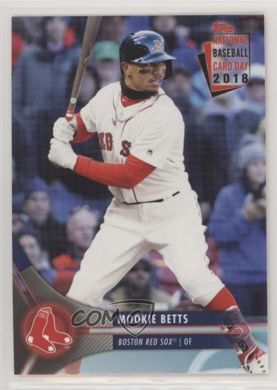 Details About 2018 Topps National Baseball Card Day 2 Mookie Betts Boston Red Sox