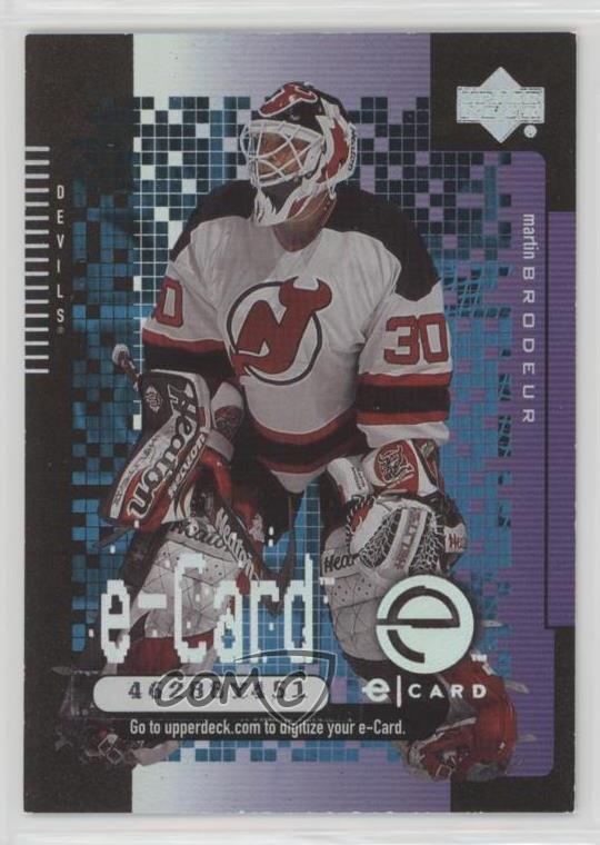 2000 01 Upper Deck E Cards Ec7 Martin Brodeur New Jersey Devils