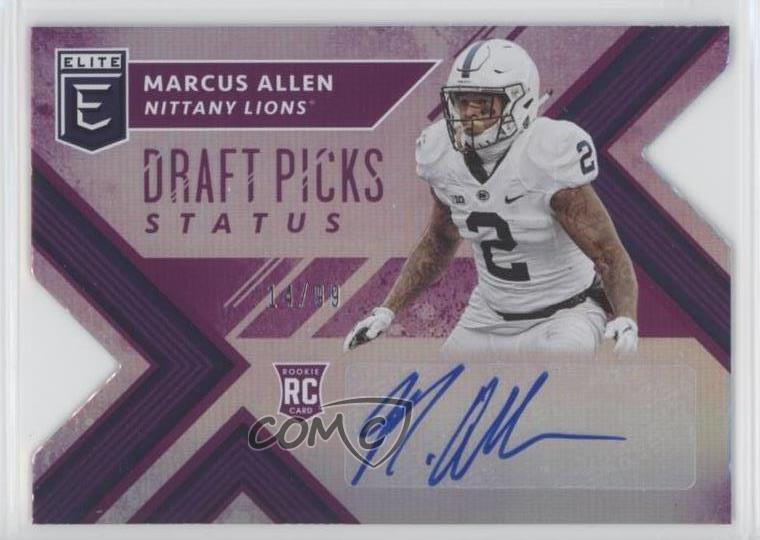 release date: 143f7 825c1 Details about 2018 Panini Elite Draft Picks/99 #247 Marcus Allen Penn State  Nittany Lions Auto