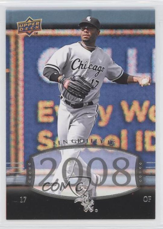 quality design dc7d9 7f5b6 Details about 2008 Upper Deck Timeline #235 Ken Griffey Jr Chicago White  Sox Baseball Card