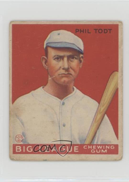Details About 1933 Goudey Big League Chewing Gum R319 86 Phil Todt New Orleans Saints Rc Card