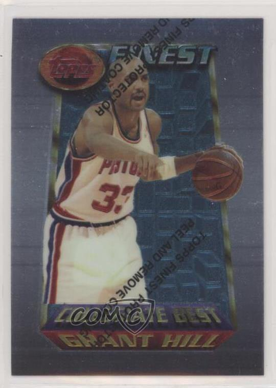 Details About 1994 95 Topps Finest 200 Grant Hill Detroit Pistons Rc Rookie Basketball Card