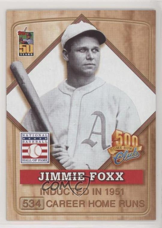 Details About 2001 Topps Post 500 Home Run Club Food Issue 3 Jimmie Foxx Baseball Card