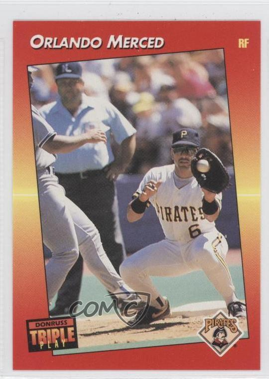 Details About 1992 Donruss Triple Play 16 Orlando Merced Pittsburgh Pirates Baseball Card