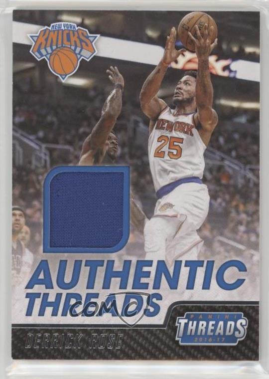 quality design b01a6 dd8a4 Details about 2016-17 Panini Threads Authentic #32 Derrick Rose New York  Knicks Card