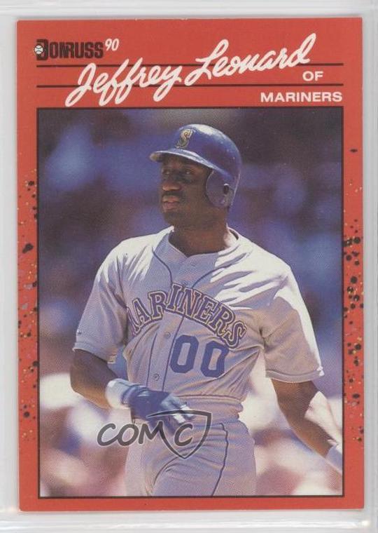 1990 Donruss 93 Jeffrey Leonard Seattle Mariners Baseball