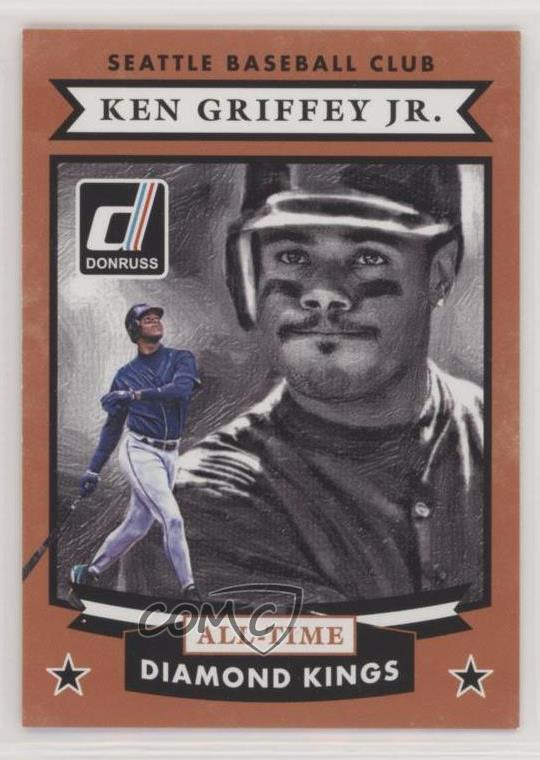2cec9fef10 2015 Panini Donruss - All-Time Diamond Kings #1 Ken Griffey Jr.  Representative Image - Select Specific Item above to see image of actual  item. Front Back