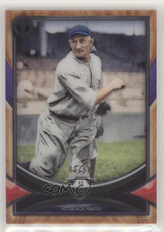 Details About 2018 Topps Tribute Purple50 32 Honus Wagner Pittsburgh Pirates Baseball Card