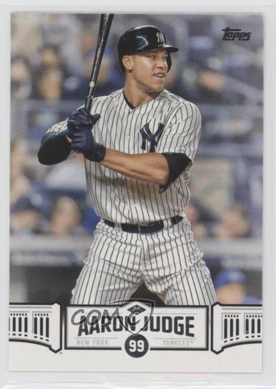 Details About 2018 Topps Wal Mart Highlights Aj 17 Aaron Judge New York Yankees Baseball Card