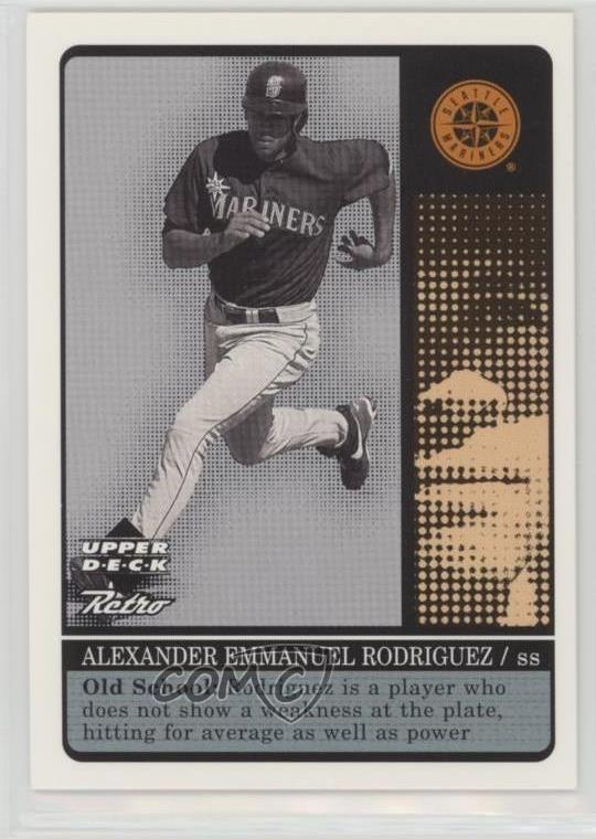 purchase cheap cff1c fb357 Details about 1999 Upper Deck Retro Old School/New School #S2 Alex  Rodriguez Seattle Mariners