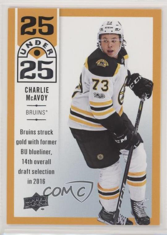 promo code 0d644 8f186 Details about 2018-19 Upper Deck 25 Under #U25-24 Charlie McAvoy Boston  Bruins Hockey Card