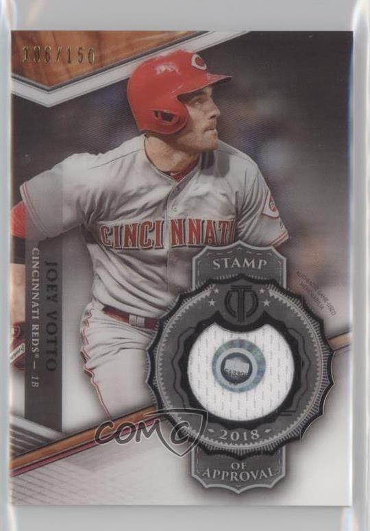 Details About 2018 Topps Tribute Stamp Of Approval Relics150 Soa Jv Joey Votto Baseball Card