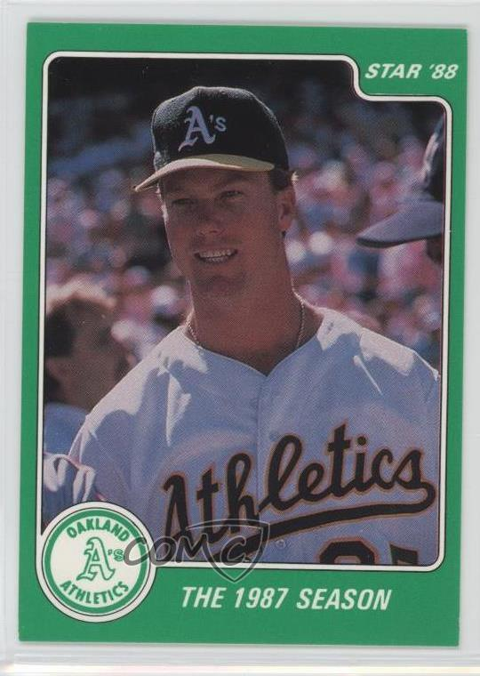 Details About 1988 Star Green 7 Mark Mcgwire Oakland Athletics Baseball Card