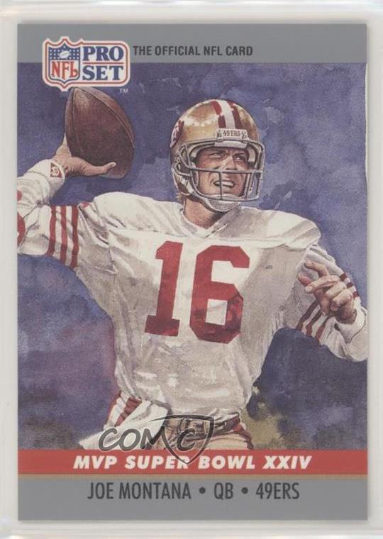 ee0427cb Details about 1990 Pro Set Super Bowl MVP's #24 Joe Montana San Francisco  49ers Football Card