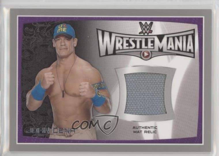 Details About 2015 Topps Wwe Road To Wrestlemania Relics Silver25 John Cena Rookie Card