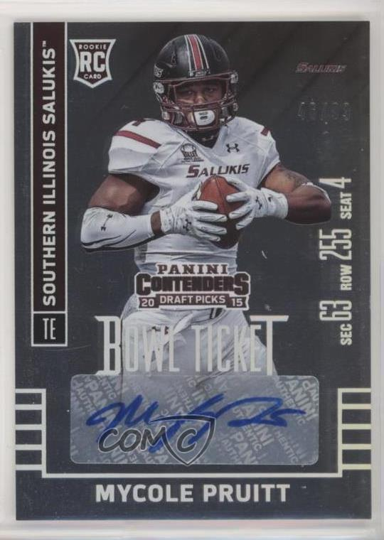 buy online 40b81 18a9a Details about 2015 Panini Contenders Draft Picks Bowl Ticket/99 #226 MyCole  Pruitt Rookie Card
