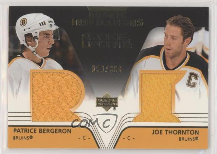 Details About 2003 04 Upper Deck Rookie Update999 151 Patrice Bergeron Joe Thornton Card